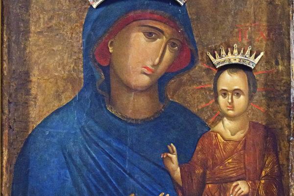Interior of Santi Giovanni e Paolo (Venice) - Madonna of Peace by Leandro Bassano